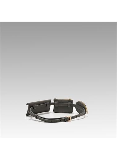 Black Ribbon Bel Çantası Gri